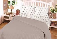 Летнее постельное белье пике  Perlay Kahve
