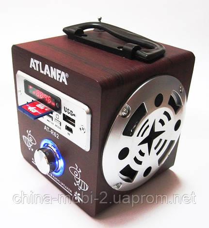 Акустика Atlanfa AT-R62, MP3 SD USB FM, red 2, фото 2