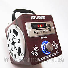 Акустика Atlanfa AT-R62, MP3 SD USB FM, red 2, фото 3