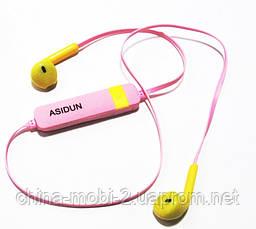 Беспроводные наушники AD-022 СПОРТ  Bluetooth + микрофон + регулятор громкости , Pink, фото 2