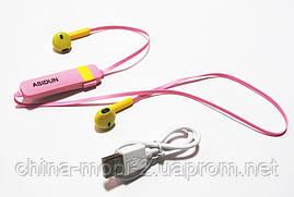 Беспроводные наушники AD-022 СПОРТ  Bluetooth + микрофон + регулятор громкости , Pink, фото 3
