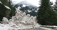 На Закарпатье с гор сошли снежные лавины