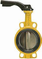 Затвор поворотный Баттерфляй KV 9 для газа Ду 65 корпус: ковкий чугун диск: AISI316 уплотнение: NBR