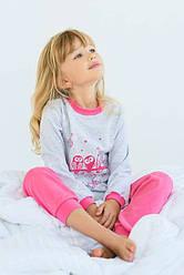"Пижама для девочки ""Совушки""  розовый"