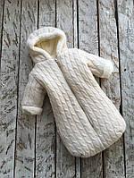 Зимний комбинезон-конверт для новорожденного Умка на махре ТМ MagBaby Бежевый 109251