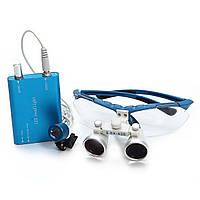 Комплект бинокуляры 3.5-420 + LED (синие)