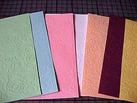 Тиснение на картоне, бумаге. Растительный орнамент