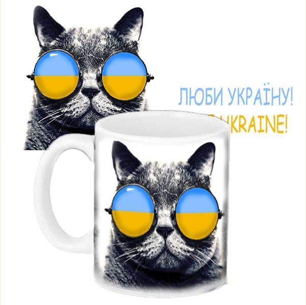 Кружка с принтом - Кот патриот