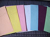 Тиснение на картоне, бумаге. Рождественская открытка