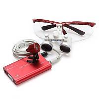Комплект бинокуляры 3.5-420 + LED (красные)