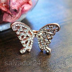Женское кольцо с бабочкой 16 размер