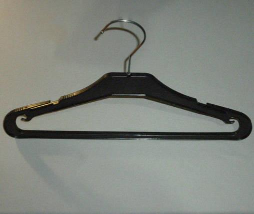 Плечики вешалки  тремпеля MAU-35 черного цвета, длина 35 см, фото 2