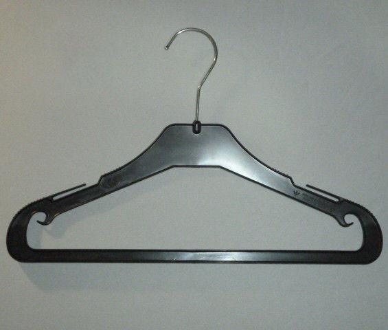 Плечики вешалки  тремпеля MAU-35 черного цвета, длина 35 см