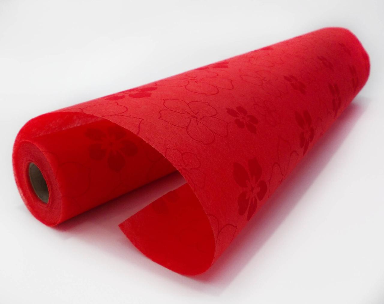 Флизелин с рисунком красный 20 м