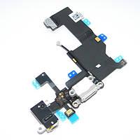 IPhone 5 шлейф разъема зарядки, коннектора гарнитуры белый