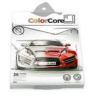 Карандаши цветные шестигранные Color Core 36 цветов +1 графитный Marco
