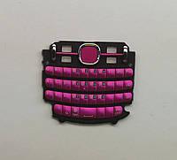 Клавиатура для мобильного телефона Nokia Asha 200 руская, High Copy розовая