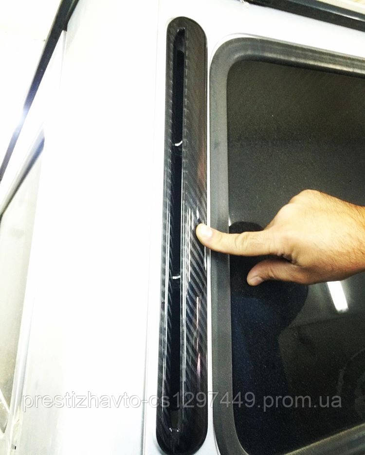 Карбоновые задние крышки стоек на Mercedes G-Сlass W463