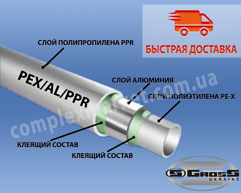 Полипропиленовая труба PEX/АL/PPR Gross - Комплекс Маркет в Киеве