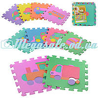 Коврик мозаика напольный Транспорт 0377: 10 частей, 30х30см