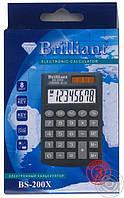"""Калькулятор """"Brilliant"""" ВS-200XYL желтый карманный"""