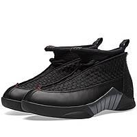 Оригинальные  кроссовки Nike Air Jordan 15 Retro Black, Red & Anthracite