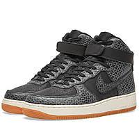 Оригинальные  кроссовки Nike W Air Force 1 Hi Premium Black & Gum