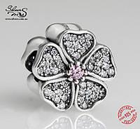"""Серебряная подвеска-шарм Пандора (Pandora) """"Цветение яблони"""" для браслета"""