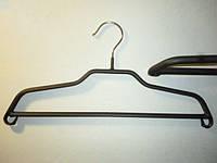 Плечики  вешалки  тремпеля комиссионные  металлические прорезиненные №2 черного цвета, длина 36 см