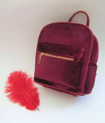Рюкзак женский  Бархат (бордовый)