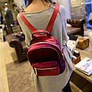 Рюкзак женский  Бархат (бордовый), фото 4