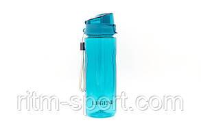 Бутылка спортивная для воды 750 мл (Tritan, прозрачная), фото 2