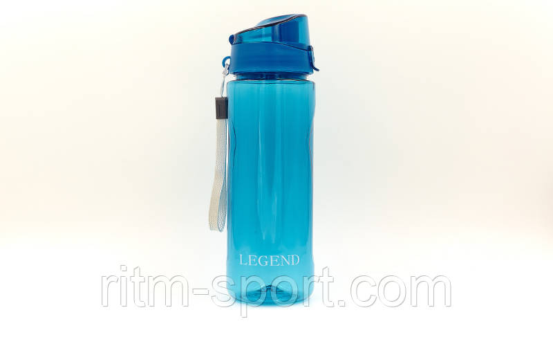 Бутылка спортивная для воды 750 мл (Tritan, прозрачная)