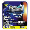 Gillette Fusion Proglide 8 шт. в упаковке сменные кассеты для бритья, оригинал, фото 4