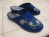 Женские текстильные тапочки Белста синие