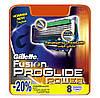Gillette Fusion Proglide Power 8 шт. в упаковке сменные кассеты для бритья, фото 5