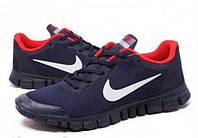 Кроссовки Nike Free Run 3.0 Blue-red  мужские беговые кроссовки найк