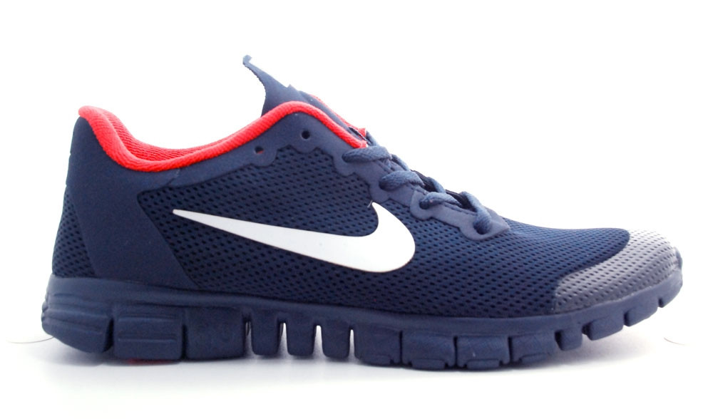 65ed47ca Кроссовки Nike Free Run 3.0 Blue-red мужские беговые кроссовки найк -  Интернет-магазин