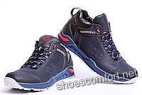 Merrel M Blue - Зимние молодежные кожаные ботинки