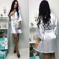 Женский Комплект Снежинка пеньюар+халатик