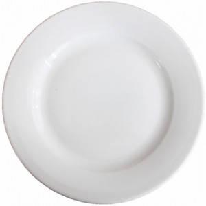 Тарелка белая 270мм (фарфор)
