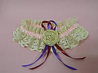 Свадебная подвязка Рустик