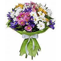 Букет-микс хризантема,ирисы,альстрмерия.