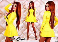 """Платье """"Шанель"""" из трикотажа желтого цвета"""