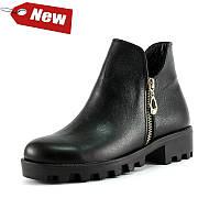 Ботинки демисез женск SND SD431-М2 черная кожа