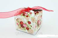 Коробка подарочная бант органза(для каравая) квадратная код(код 02613)