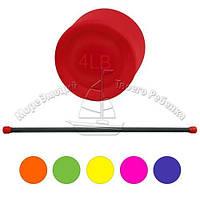 Бодибар гимнастическая палка 2 кг для фитнеса Profi MS 0537