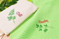 Набор полотенец вафельных с вышивкой