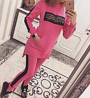 Вязанный костюм . Туника +лосины. Костюм женский теплый. Магазин  одежды.
