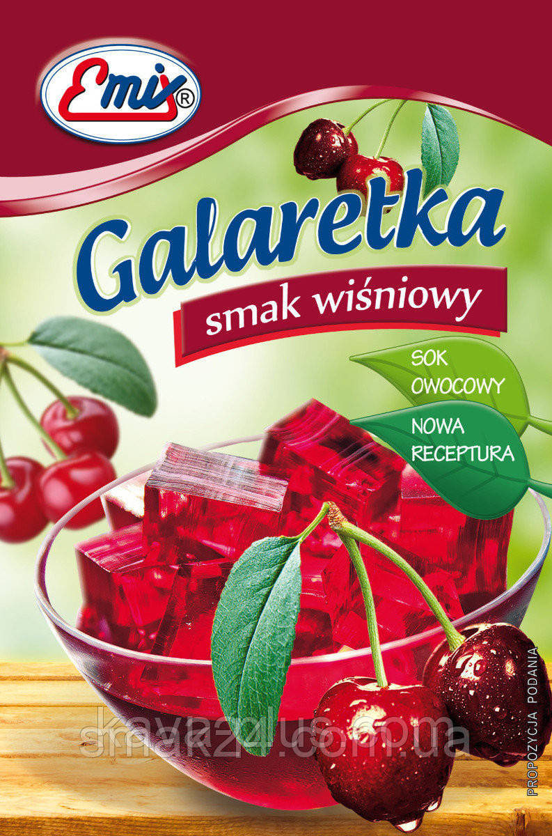Галаретка (Желе) со вкусом вишни Emix Польша 79г